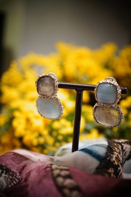 Scacco(チェス)Collection Earrings/Pieces(イヤリング/ピアス)[OR1303 OTAG Amazonite/Labradorite] オーダー商品