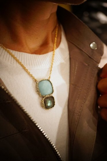 Scacco(チェス)Collection Necklace(ネックレス)[CL5593 OTAG Labradorite/Amazonite] オーダー商品