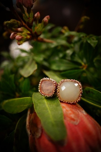 Segreti collection double stone Ring (リング)[AN157 OTVIO NewJade /Rosa.Q