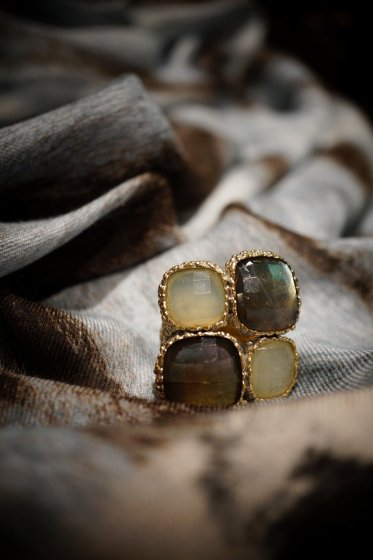 ScaccoCollection Ring (リング)[AN175 OTAG Labradorite/NewJade