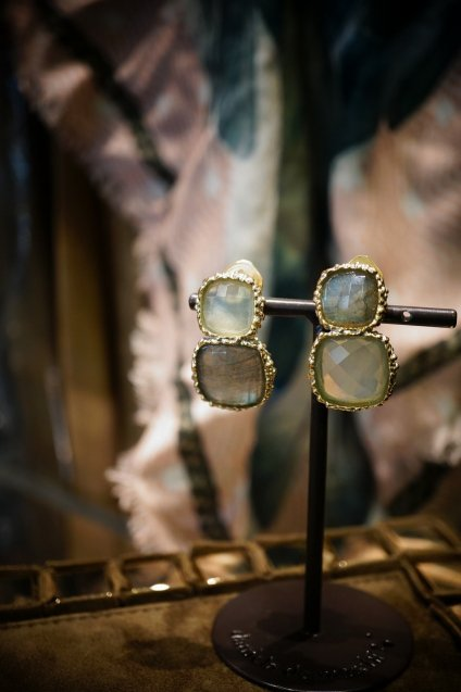 Scacco(チェス)Collection Earrings(イヤリング)[OR1303 OTAG Labradorite/NewJade]