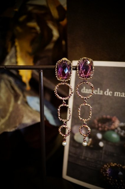Daniela de Marchi Segreti Long Eariings(イヤリング)OR1272 OTVIO Amesist