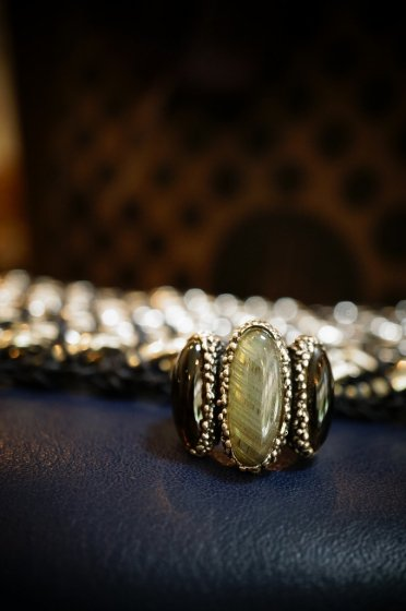 ZEN collection Ring(リング)[AN158 AGBR Labradorite/Smoky.Q/]