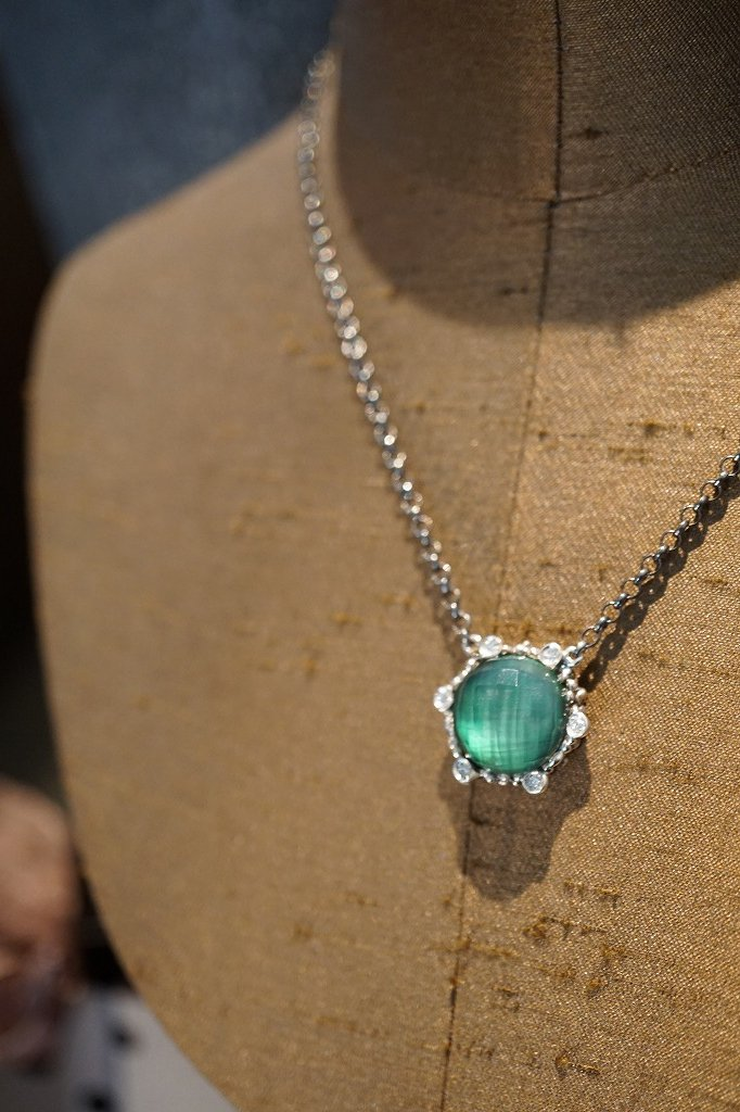Diamond Chain Necklace (ネックレス)[CL2903 AGBR GreenAgate ]