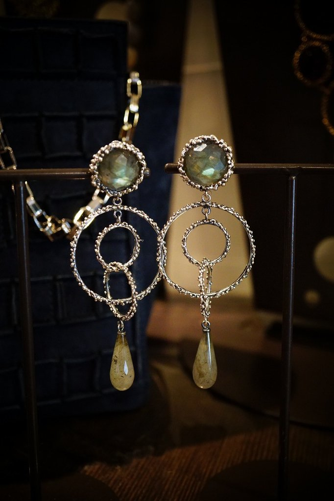 Chandelier Earrings(イヤリング)[OR1093 AGBR Labradorite]