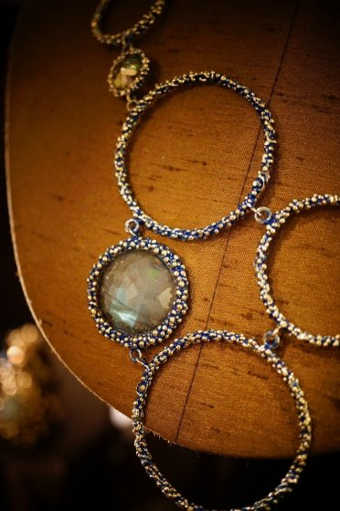 Contamination Necklace(ネックレス)[CL 5466 OMI Labradrite/ Smoky.Q/Lemon.Q