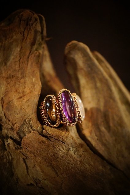 ZEN collection Ring(リング)[AN158 OTVIO Amesist/Smoky.Q/Rosa.Q]