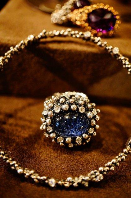 Diamond Ring [AN907]Silver Sodalite/Onix/Crystal】シルバーブラック オーダー商品