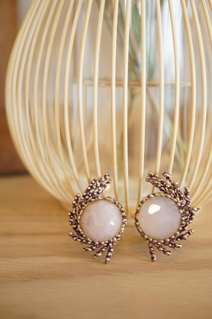 SGUARDI Collection Earrings(イヤリング)[OR 1199 OTVIO Rosa.Qローズクオーツ