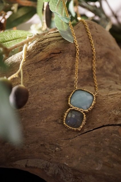 Scacco(チェス)Collection Necklace(ネックレス)[CL5593 OTAG Labradorite/Amazonite]