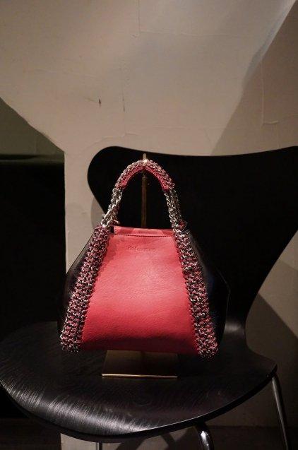 de Couture(デクチュール)2WAYチェーントートバッグSサイズ  PinkRed/Metallic Silver