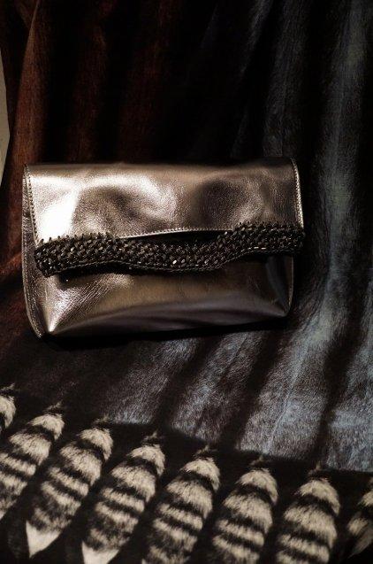 de Couture(デクチュール)レザークラッチバッグ 3WAY Metallic Silver
