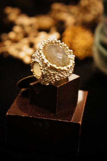 Ricordi Ring(リング)[AN117 OTAG Labradorite/NewJade]