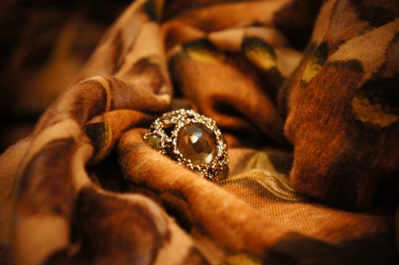 Renaissance collection Fire Works Ring(リング)[AN50 BZBR Q.Fume(Top)/Labradorite/Q.Fume/Lemon.Q]