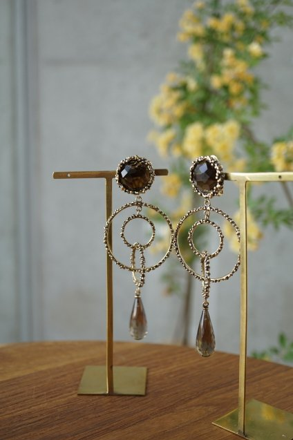 Chandelier Earrings/Pieces(イヤリング/ピアス)[OR1093 OTBR Q.Fume]