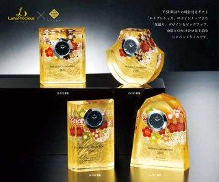 金箔クリスタル時計付きオーナメント JP-LS.100