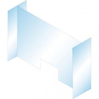飛沫防止用アクリルパーテンション(H型窓枠付き)