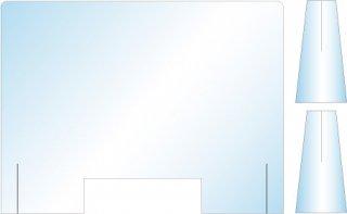 飛沫防止用アクリルパーテンション(組み立て式)