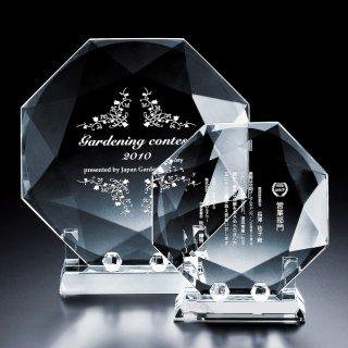 クリスタル2Dレーザー彫刻表彰楯 JP-VOS.308