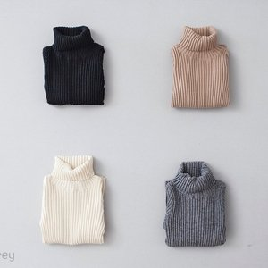 hi neck rib knit