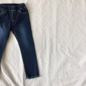cut off straight denim