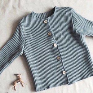button rib cardigan