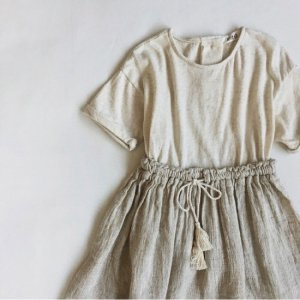 【ORDER】double fabric dress