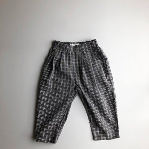 【ORDER】square check pants