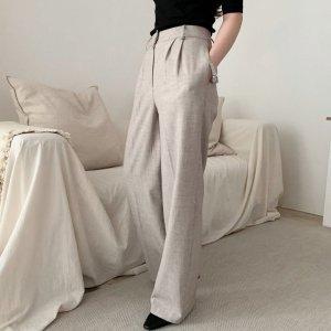 high-waist wide pants