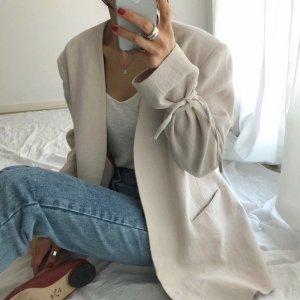 sleeve ribbon jacket