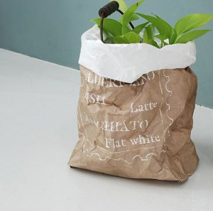 Washable Paper Bags [Coffee]