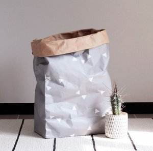 Kraft paper bag [Gray Triangle]