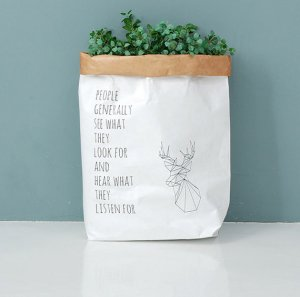 Washable Paper Bags [Deer]