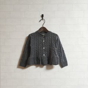 frill point cardigan