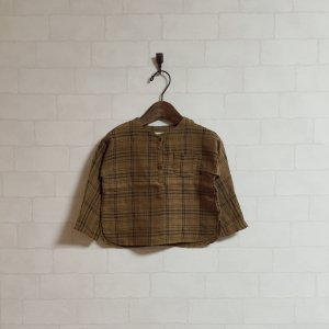 brown color check tops