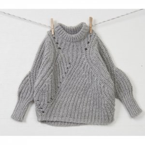 hi-neck loose knit