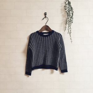 double color pattern knit