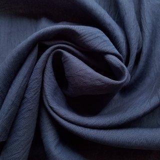 本麻楊柳生地 「近江ちぢみ」 濃紺 112cm幅 麻 ラミー クレープ