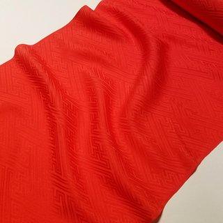 洗える正絹長襦袢地 赤 朱 シルキッシュ加工 防縮加工