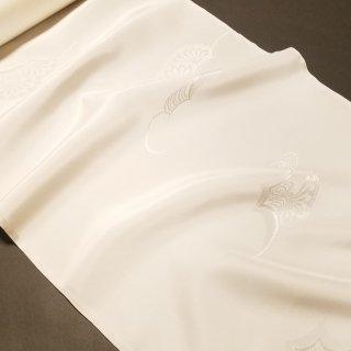 正絹長襦袢地 綸子 白「シルエール」ニューホワイト加工