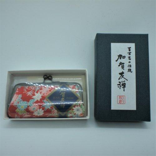 加賀友禅模様 印鑑ケース (赤カエデ)
