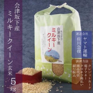 令和元年産 会津坂下産ミルキークイーン 玄米5kg