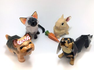 PaperDesign DOG CAT RABBIT 全4個セット