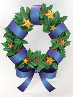 FLORIST HOLLY WREATH(ヒイラギリース)