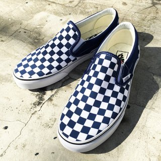 [VANS]Classic Slip-on (Checkerboard)Estate Blu