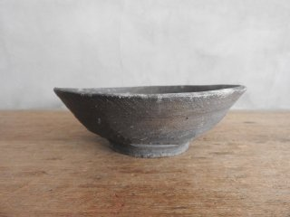 03 焼締 青海波 5.5寸鉢(在庫1点のみ) / 府川和泉