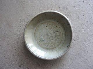 14 斑唐津 青海波 7寸ベタ皿(在庫1点のみ) / 府川和泉