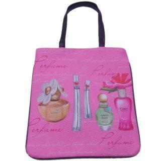 香水柄ミニトートバッグ/カップケーキ柄/レディースバッグ/小物入れ/かわいい