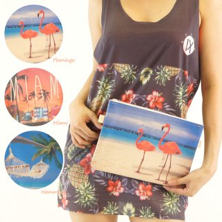 バック 鞄 ポシェット キャンパスバック 2WAY♪グラフィックプリントのクラッチバッグorポーチ☆