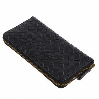 Raffaello 一流の革職人が作る 中世イタリアから受け継がれたバケッタ製法を再現したメンズラウンドファスナー長財布
